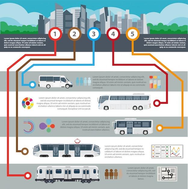 Passageiro de vetor de transporte de cidade pública Vetor Premium
