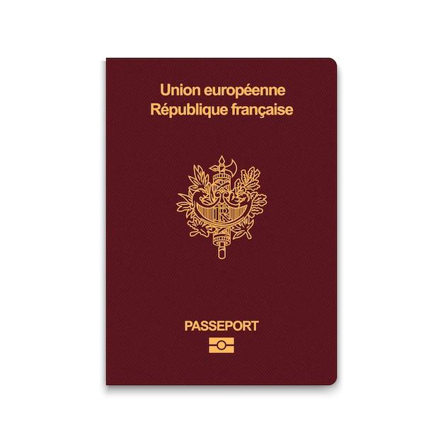 Passaporte da frança Vetor Premium