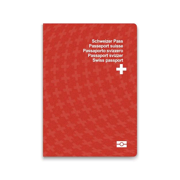 Passaporte da suíça Vetor Premium