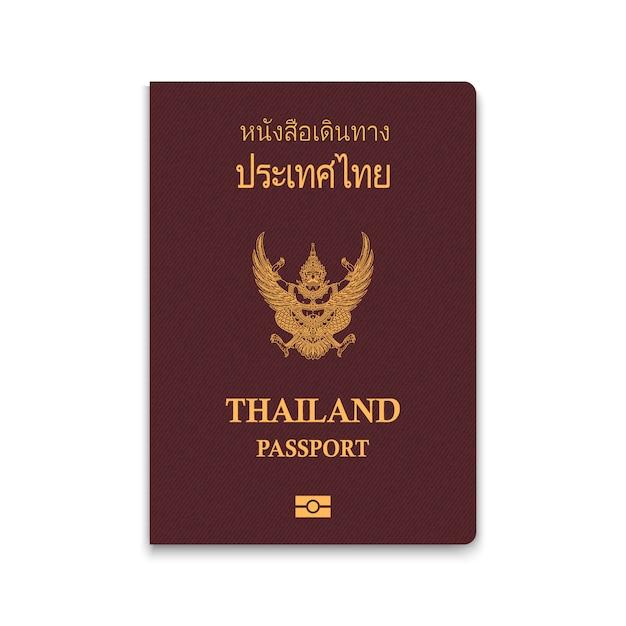 Passaporte da tailândia Vetor Premium
