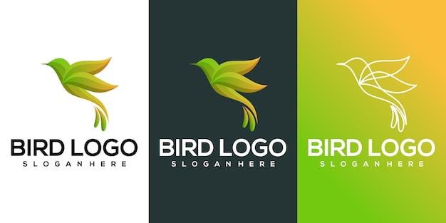 Pássaro colorido Vetor Premium
