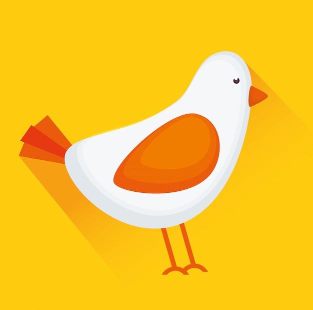 Pássaro ou passarinho animal Vetor Premium