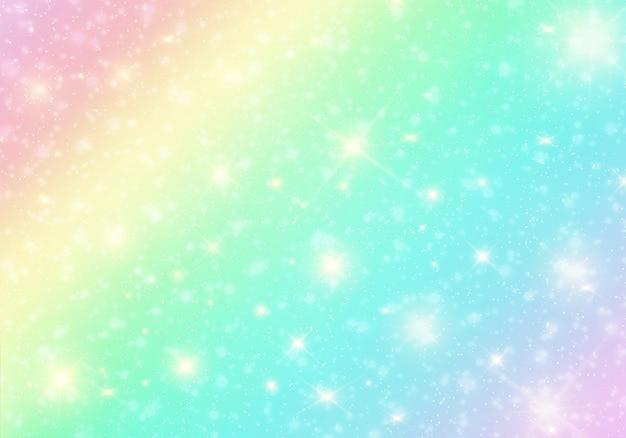 Pastel de arco-íris de bokeh de fundo Vetor Premium