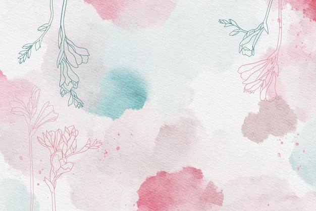 Pastel em pó bonito com mão desenhados elementos Vetor grátis