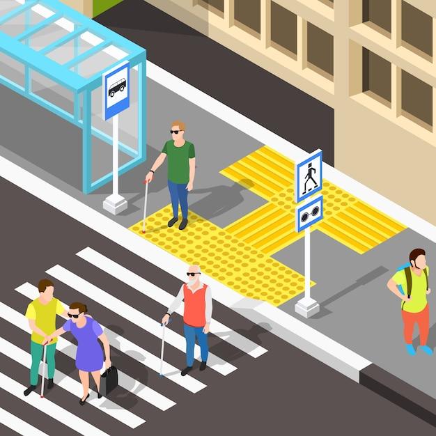 Pavimentação para passadeiras cegas Vetor grátis