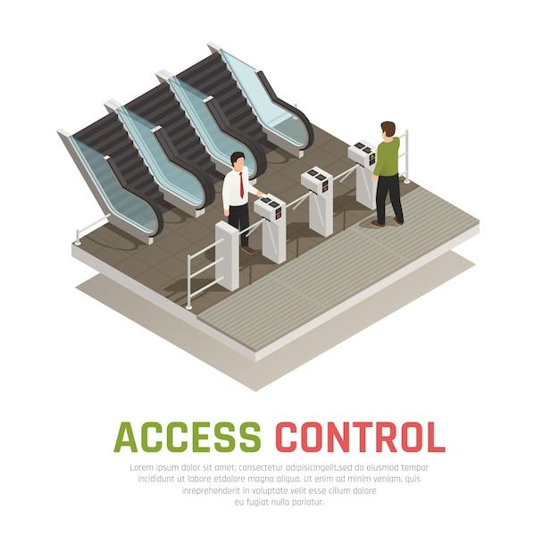 Pay gate control Vetor grátis