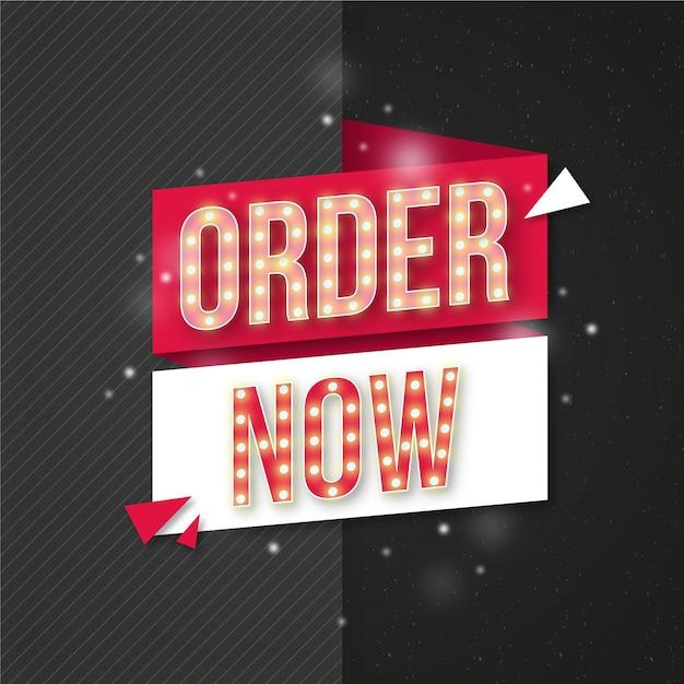 Peça agora modelo de banner Vetor grátis