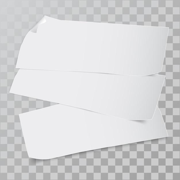Pedaço de papel. Vetor Premium