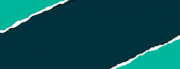 Pedaço rasgado de banner de papel rasgado com espaço de texto Vetor grátis