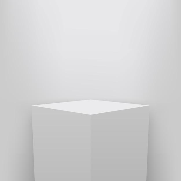 Pedestal de museu, palco, apresentação do pódio 3d. Vetor Premium