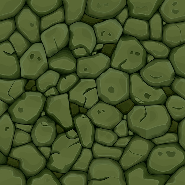 Pedra verde fundo sem emenda Vetor Premium