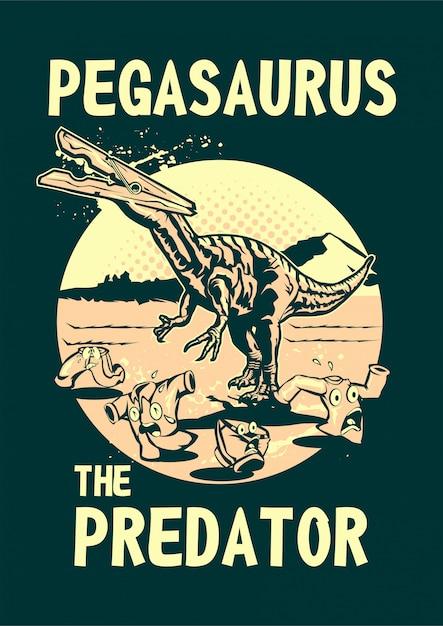 Pegasauro Vetor Premium