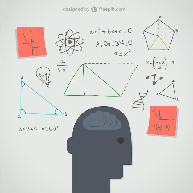 Pensando mente ilustração Vetor grátis