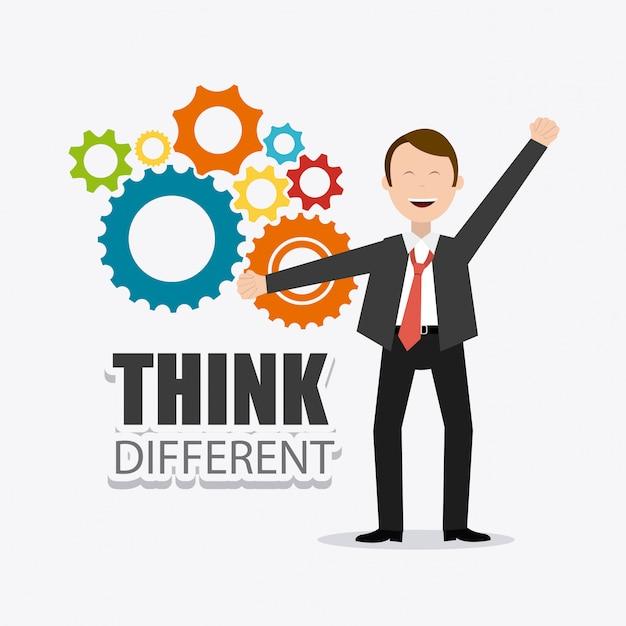 Pense design diferente. Vetor Premium