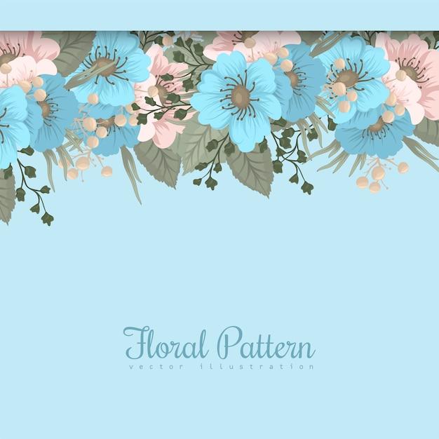 Pensionista de flores da primavera - flor azul claro Vetor grátis