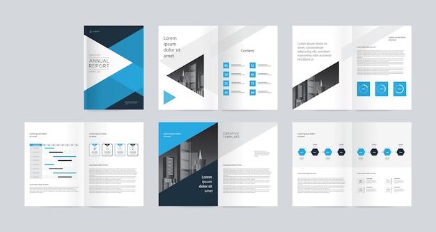 Perfil da empresa de negócios, relatório anual, modelo de folhetos Vetor Premium