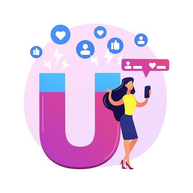 Perfil de rede social. blogueiro famoso, personagem influente em desenhos animados. curtidas e repostagens de fotos. popularidade na internet, fama, celebridade. Vetor grátis