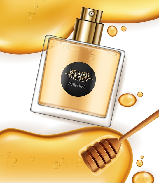 Perfume de infusão de mel Vetor Premium
