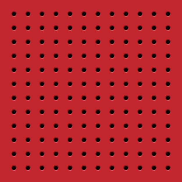 Perfurado vermelho padrão sem emenda Vetor Premium