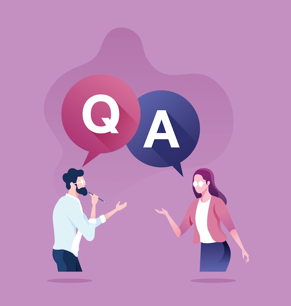 Pergunta e resposta conceito Vetor Premium