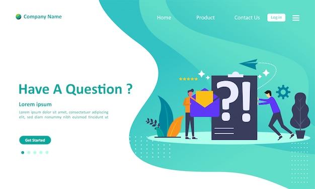 Perguntas frequentes página de destino Vetor Premium