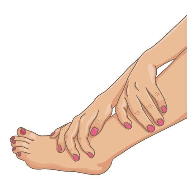 Pernas femininas com os pés descalços, vista lateral Vetor Premium