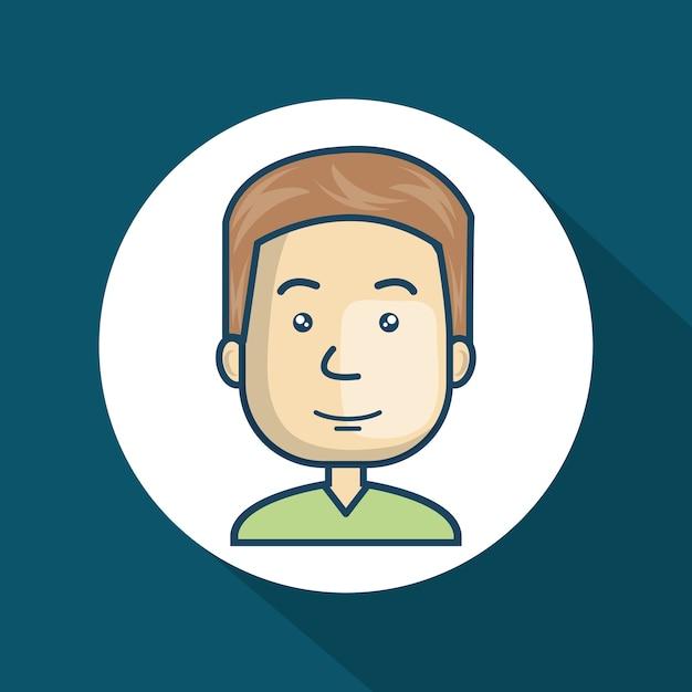 Personagem cara avatar internet Vetor Premium