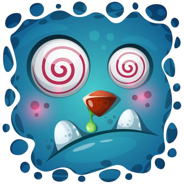 Personagem de abóbora louco engraçado, fofo. ilustração de halloween Vetor Premium