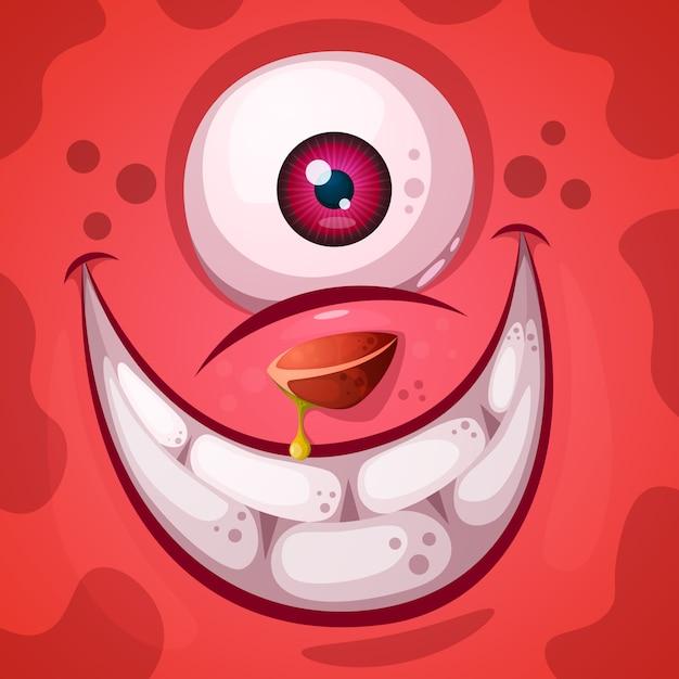 Personagem de abóbora louco engraçado, fofo Vetor Premium