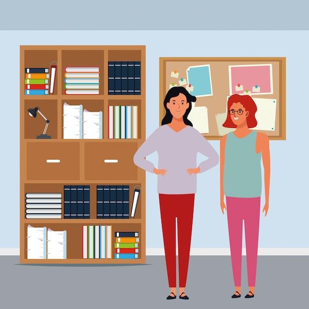 Personagem de desenho animado de avatar de mulheres Vetor grátis