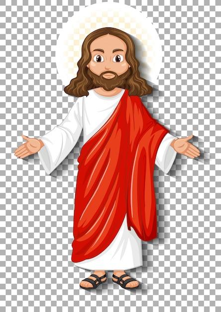 Personagem de desenho animado jesus isolado Vetor grátis
