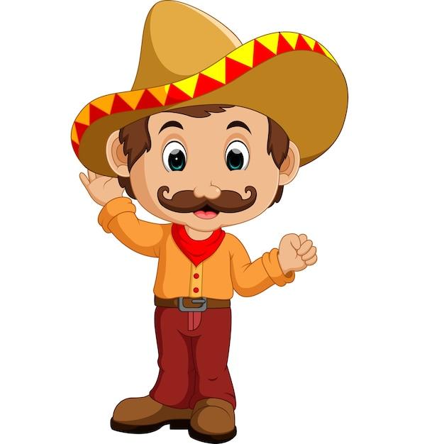 Personagem de desenho mexicano Vetor Premium