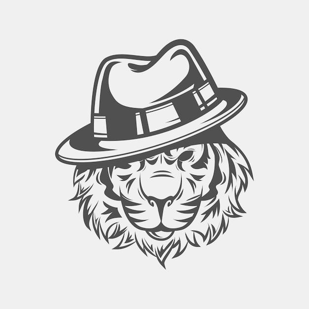 Personagem de gangster retrô com chapéu Vetor grátis