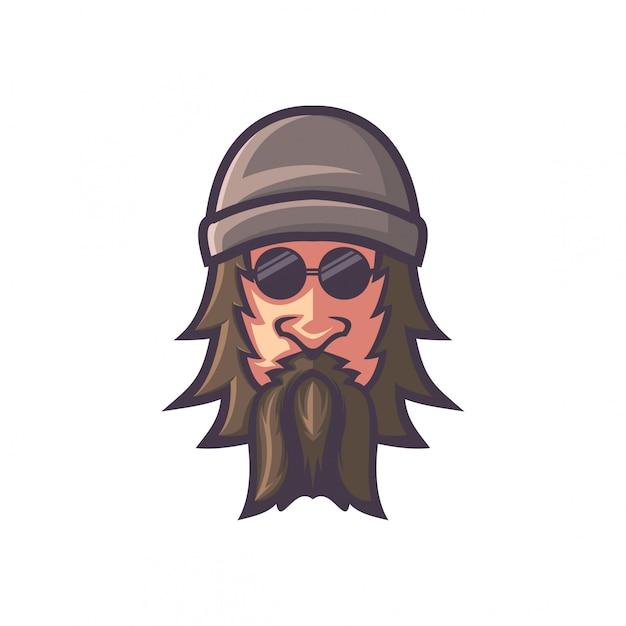 Personagem de homem velho Vetor Premium