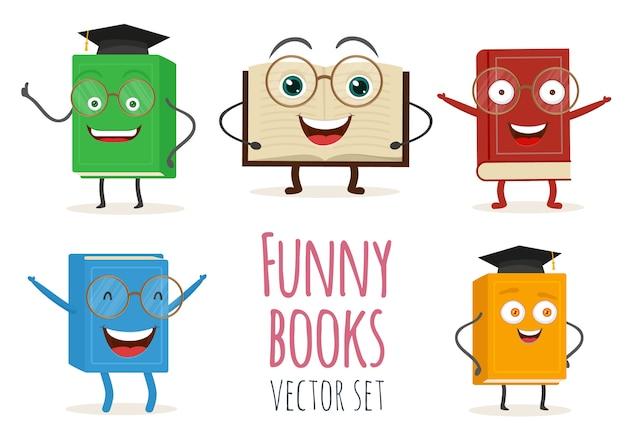 Personagem De Livro Bonito Dos Desenhos Animados Com Rostos