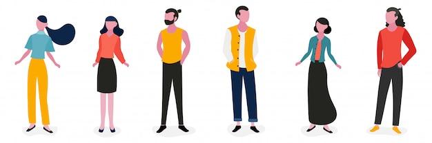 Personagem de pessoas de estilo de vida design ilustração Vetor Premium