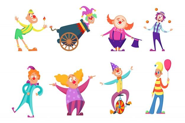 Personagens de circo. Vetor Premium