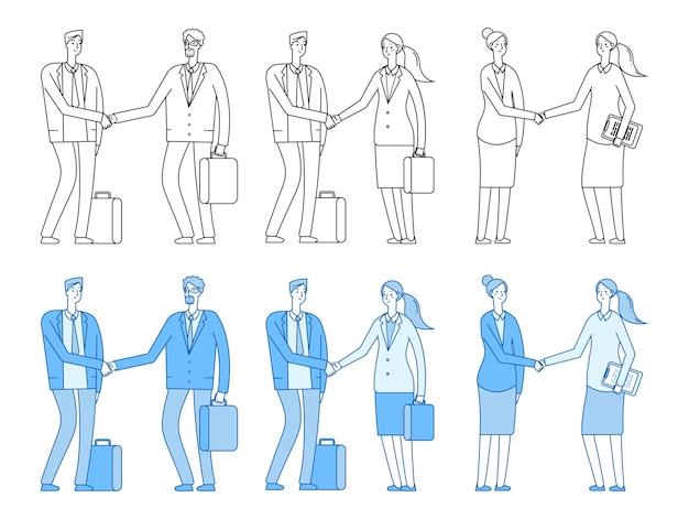 Personagens de executivos Vetor Premium