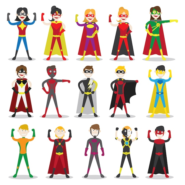Personagens super her i baixar vetores premium - Liste super heros femme ...