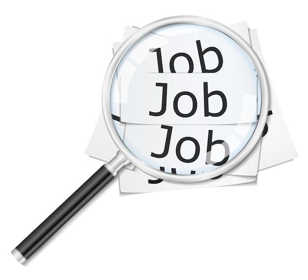 Pesquisa de emprego Vetor Premium