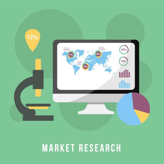 Pesquisa de mercado de conceito de negócios Vetor Premium