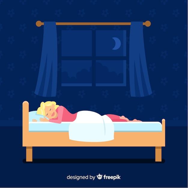 Pessoa dormindo Vetor grátis