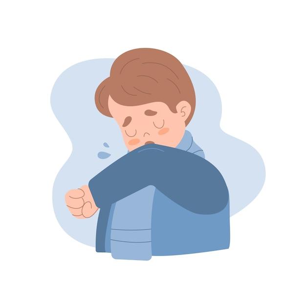 Pessoa tossindo Vetor grátis