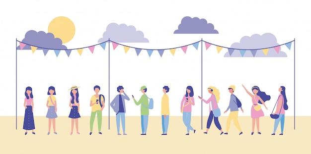 Pessoas atividades ao ar livre Vetor grátis