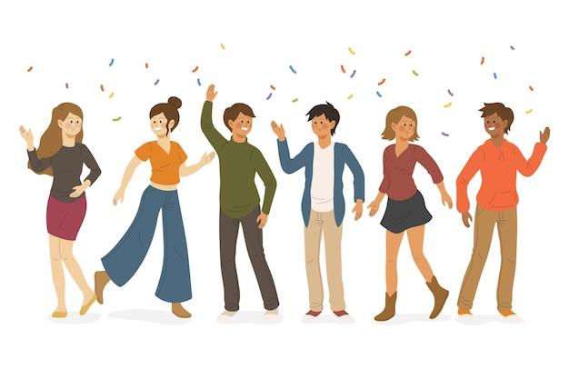 Pessoas celebrando juntos o conceito de ilustração Vetor grátis