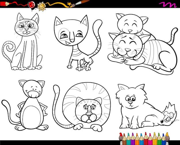 Pessoas Com Animais De Estimacao Colorir Pagina Vetor Premium