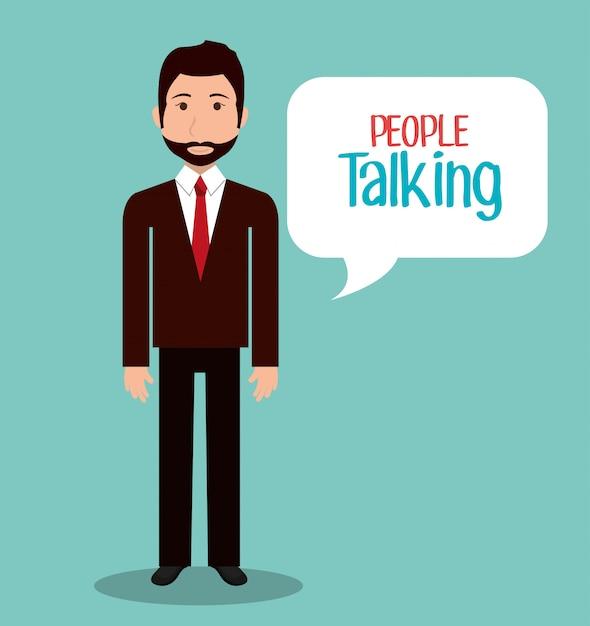 Pessoas conversando Vetor grátis