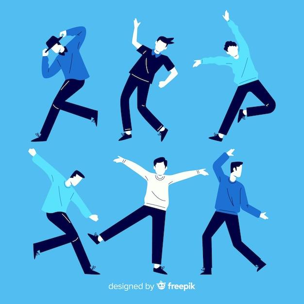 Pessoas dançando coleção Vetor grátis
