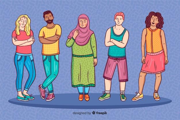 Pessoas de diferentes culturas e raças Vetor grátis