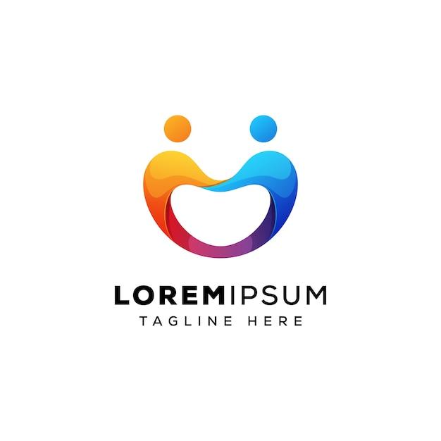 Pessoas de negócios da equipe conceito de logotipo vetor premium Vetor Premium